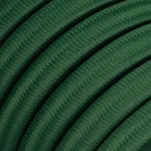 Cavo elettrico per Catenaria rivestito in tessuto Effetto Seta Verde Scuro CM21