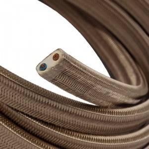 Cavo elettrico per Catenaria rivestito in tessuto Effetto Seta Cipria CM27