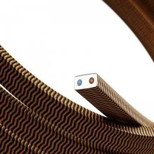 Cavo elettrico per Catenaria rivestito in tessuto Effetto Seta ZigZag Nero - Whiskey CZ22