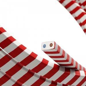 Cavo elettrico per Catenaria Vertigo HD rivestito in tessuto Candy Cane ECM39