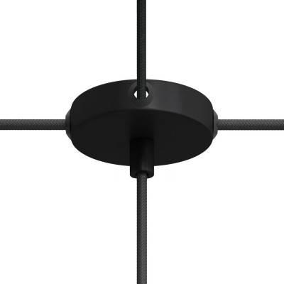 Kit Mini rosone cilindrico in metallo a 1 foro centrale e 4 fori laterali