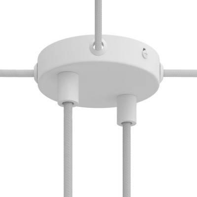 Kit rosone cilindrico Mini in metallo a 2 fori e 4 fori laterali