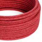 Cavo Elettrico rotondo rivestito in Juta Tinta Unita Rosso Ciliegia RN24