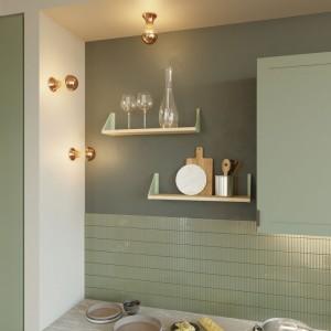 Fermaluce Vintage, punto luce metallizzato a parete o soffitto
