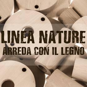 La nuova Linea Nature: rosoni e portalampada in legno naturale